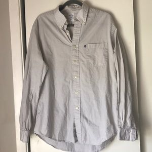 Brooks Brothers button down shirt light gray